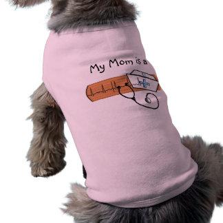 Regalos únicos de la enfermera de la escuela playera sin mangas para perro
