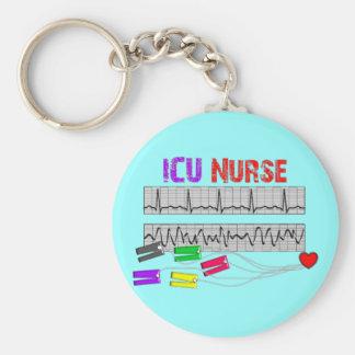 Regalos únicos de la enfermera del diseño ICU Llavero Redondo Tipo Pin