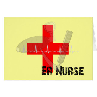 Regalos únicos de la enfermera del ER Tarjeta De Felicitación