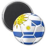 Regalos uruguayos de los aficionados al fútbol de  imán redondo 5 cm