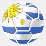 Regalos uruguayos de los aficionados al fútbol de etiqueta redonda