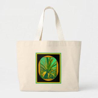 Regalos verdes de los cactus del agavo americano p bolsa de mano