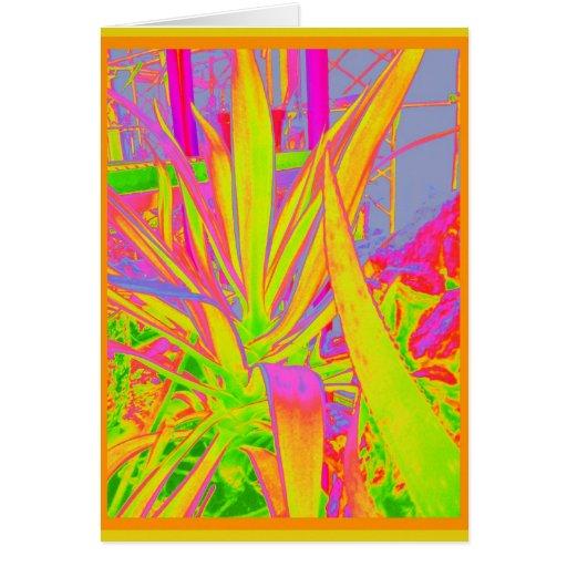 Regalos verdes de los cactus del agavo por Sharles Tarjetón