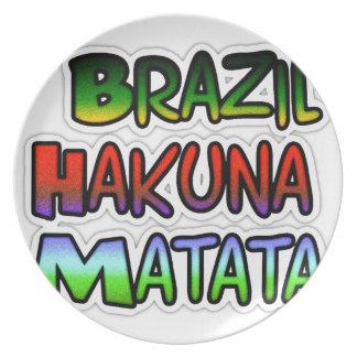 Regalos verdes del Brasil Hakuna Matata Platos