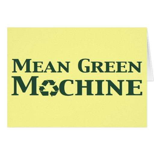 Regalos verdes malos de la máquina tarjetas