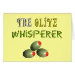 """Regalos verdes olivas de los amantes """"el Whisperer Felicitaciones"""