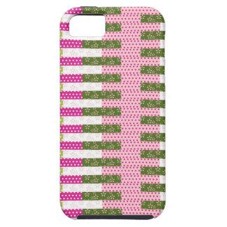 Regalos verdes rosados bonitos del diseño del edre iPhone 5 Case-Mate protectores