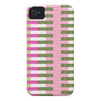 Regalos verdes rosados bonitos del diseño del edre iPhone 4 fundas