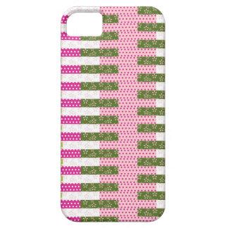 Regalos verdes rosados bonitos del diseño del edre iPhone 5 cobertura