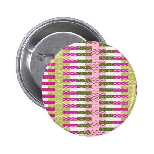 Regalos verdes rosados bonitos del diseño del edre pin redondo 5 cm
