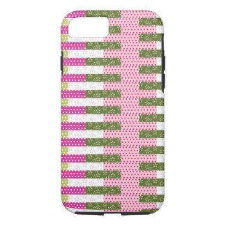 Regalos verdes rosados bonitos del diseño del funda iPhone 7