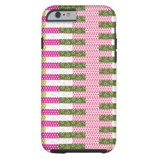 Regalos verdes rosados bonitos del diseño del funda resistente iPhone 6