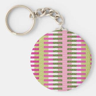 Regalos verdes rosados bonitos del diseño del llavero redondo tipo pin