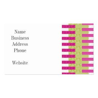 Regalos verdes rosados bonitos del diseño del tarjetas de visita