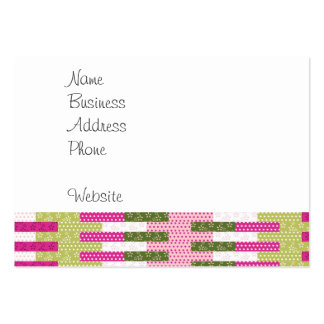 Regalos verdes rosados bonitos del diseño del tarjetas de visita grandes