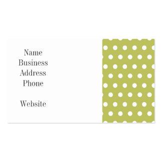 Regalos verdes y blancos lindos del modelo de tarjetas de visita