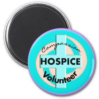 Regalos voluntarios del hospicio (descuento valora imán redondo 5 cm