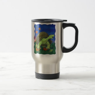 Regalos y accesorios de la tortuga taza de viaje de acero inoxidable