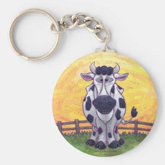 Regalos y accesorios de la vaca llavero redondo tipo pin