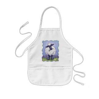 Regalos y accesorios de las ovejas delantal infantil