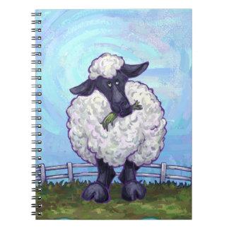 Regalos y accesorios de las ovejas libretas espirales