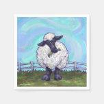 Regalos y accesorios de las ovejas servilletas de papel