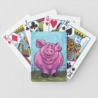 Regalos y accesorios del cerdo baraja de cartas bicycle