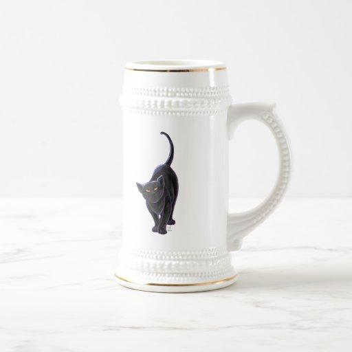 Regalos y accesorios del gato negro tazas de café