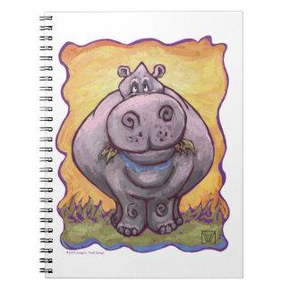Regalos y accesorios del Hippopotamus Libretas