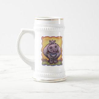 Regalos y accesorios del Hippopotamus Jarra De Cerveza