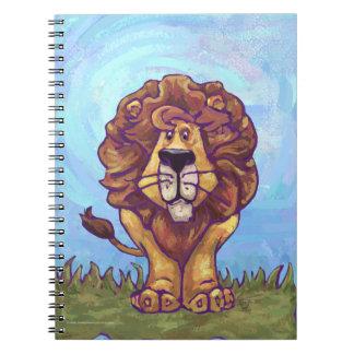 Regalos y accesorios del león libro de apuntes con espiral