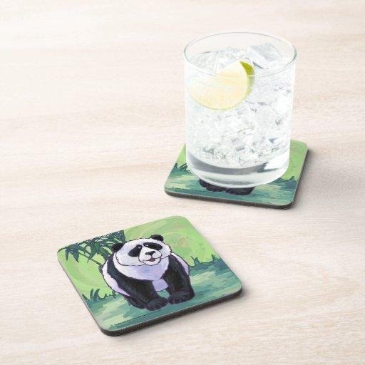 Regalos y accesorios del oso de panda posavasos de bebida