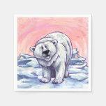 Regalos y accesorios del oso polar servilletas de papel