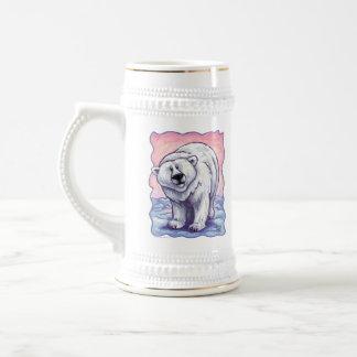Regalos y accesorios del oso polar jarra de cerveza
