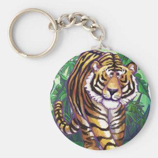 Regalos y accesorios del tigre llavero redondo tipo chapa