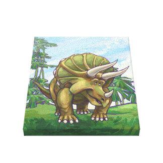 Regalos y accesorios del Triceratops Lona Envuelta Para Galerías
