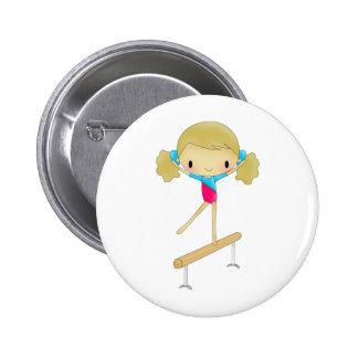 Regalos y accesorios personalizados de la gimnasia pin redondo de 2 pulgadas