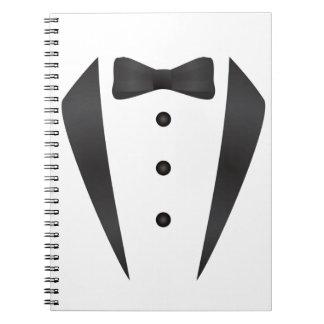 Regalos y apoyos de boda del smoking para el novio libreta espiral