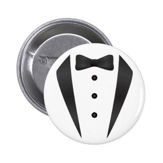 Regalos y apoyos de boda del smoking para el novio pin redondo de 2 pulgadas