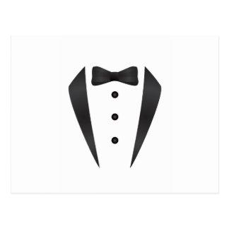 Regalos y apoyos de boda del smoking para el novio tarjetas postales