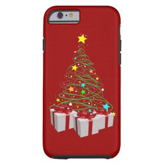 Regalos y árbol del navidad funda para iPhone 6 tough