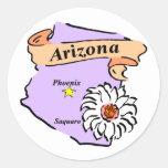 Regalos y camisetas coloridos del mapa de Arizona Pegatinas