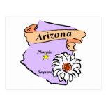 Regalos y camisetas coloridos del mapa de Arizona Tarjeta Postal