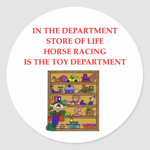 Regalos y camisetas de HORSERACING Pegatinas Redondas