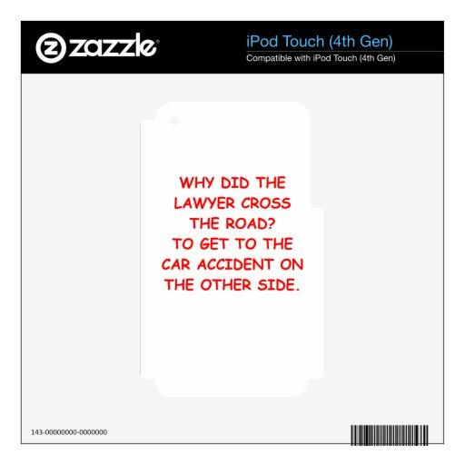 regalos y camisetas del chiste del abogado skins para iPod touch 4G