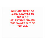 regalos y camisetas del chiste del abogado tarjetas postales