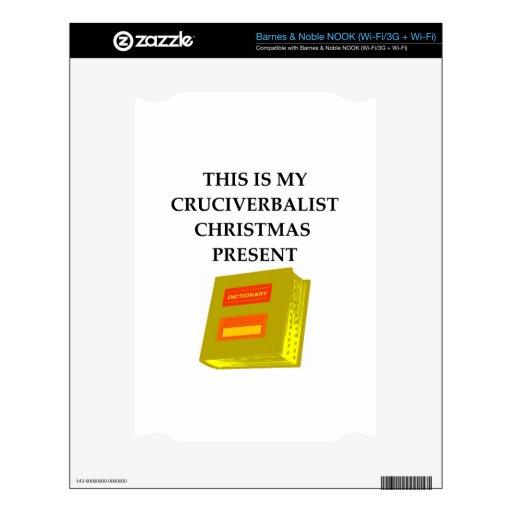 regalos y camisetas del crucigrama skins para NOOK