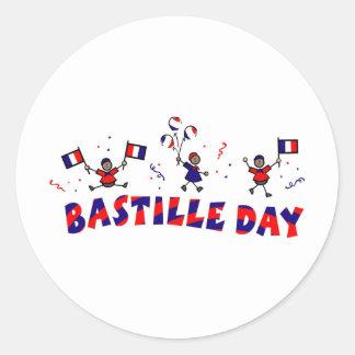 Regalos y camisetas del día de Bastille Pegatina Redonda