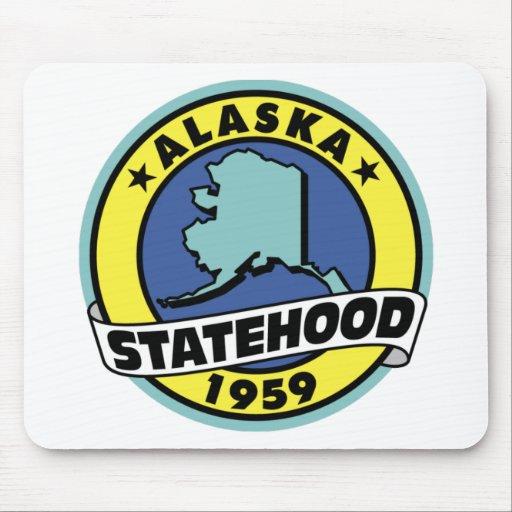 Regalos y camisetas del Statehood de Alaska Alfombrillas De Ratones
