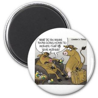 Regalos y camisetas divertidos del dibujo animado imán redondo 5 cm